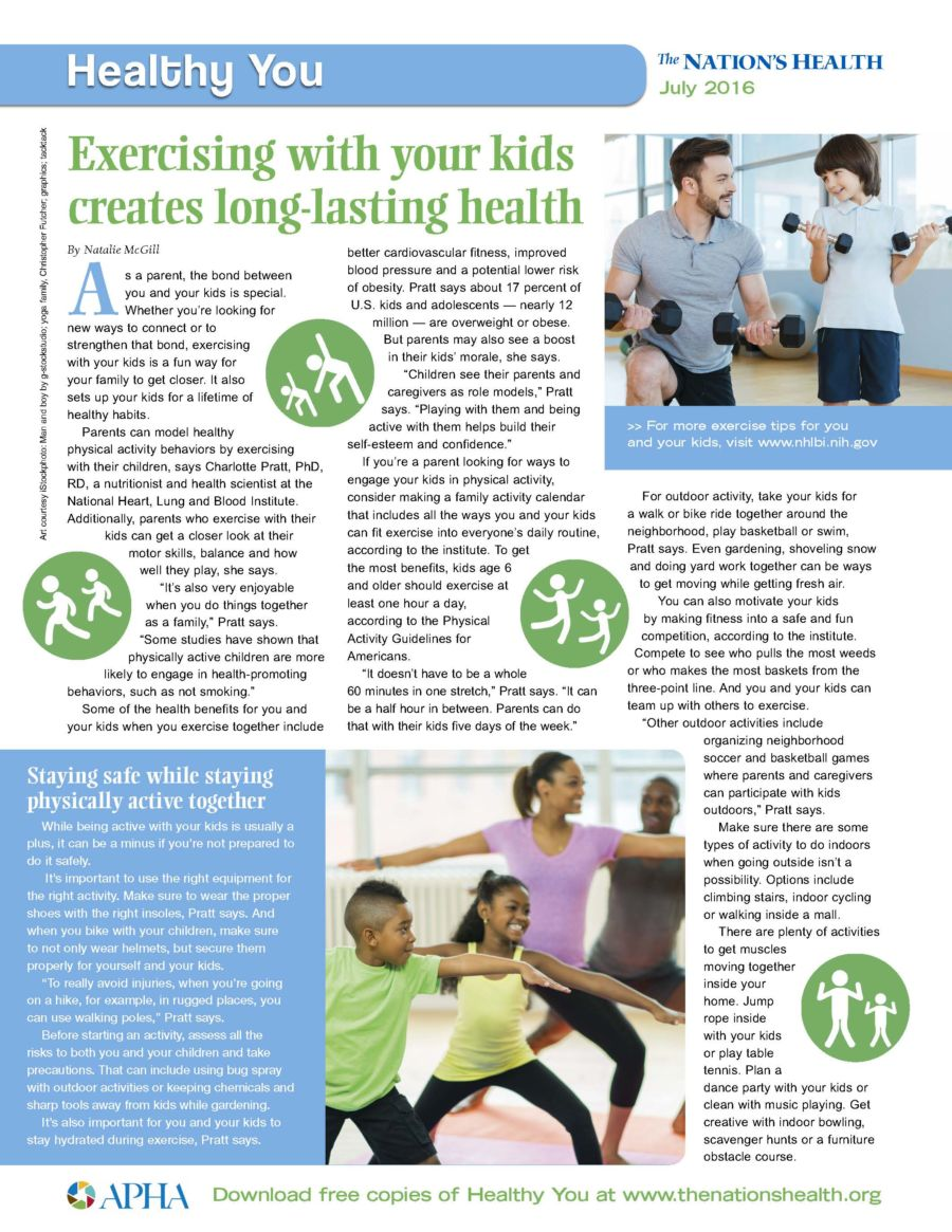 Excercising With Your Kids Creates Long Lasting Health