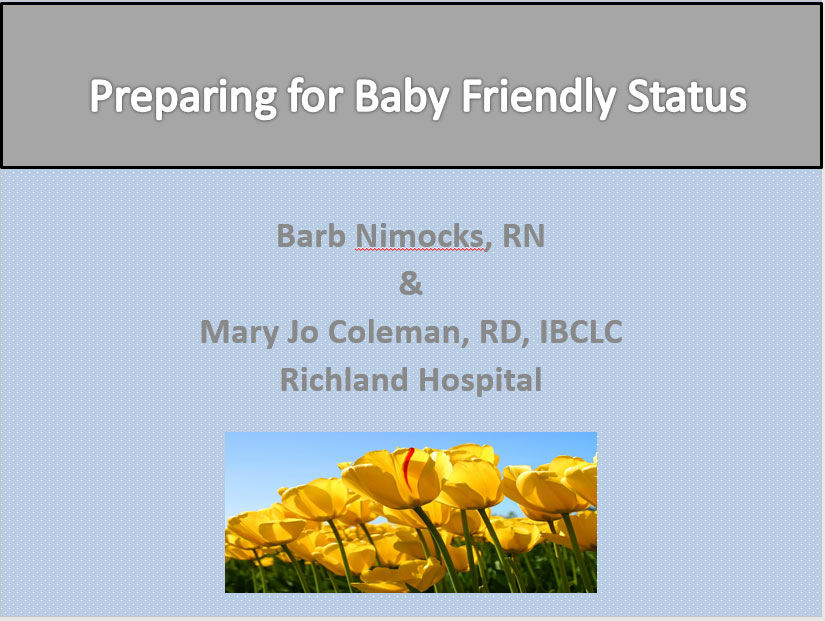 Preparing for Baby Friendly Status
