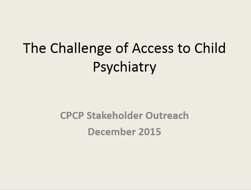 Challenge of Access to Child Psychiatry