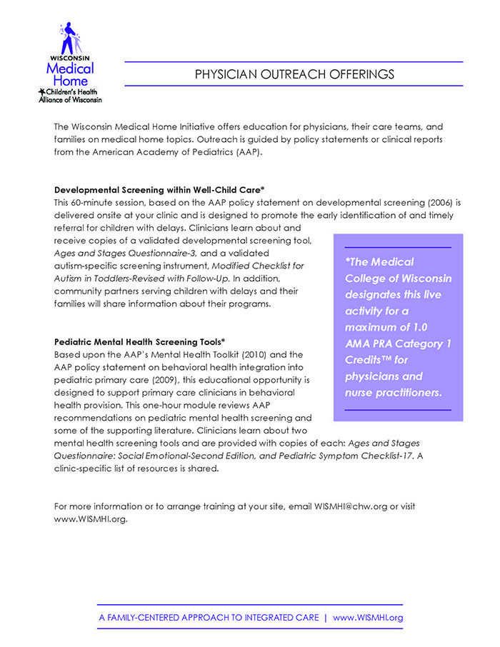 Wisconsin Medical Home Initiative